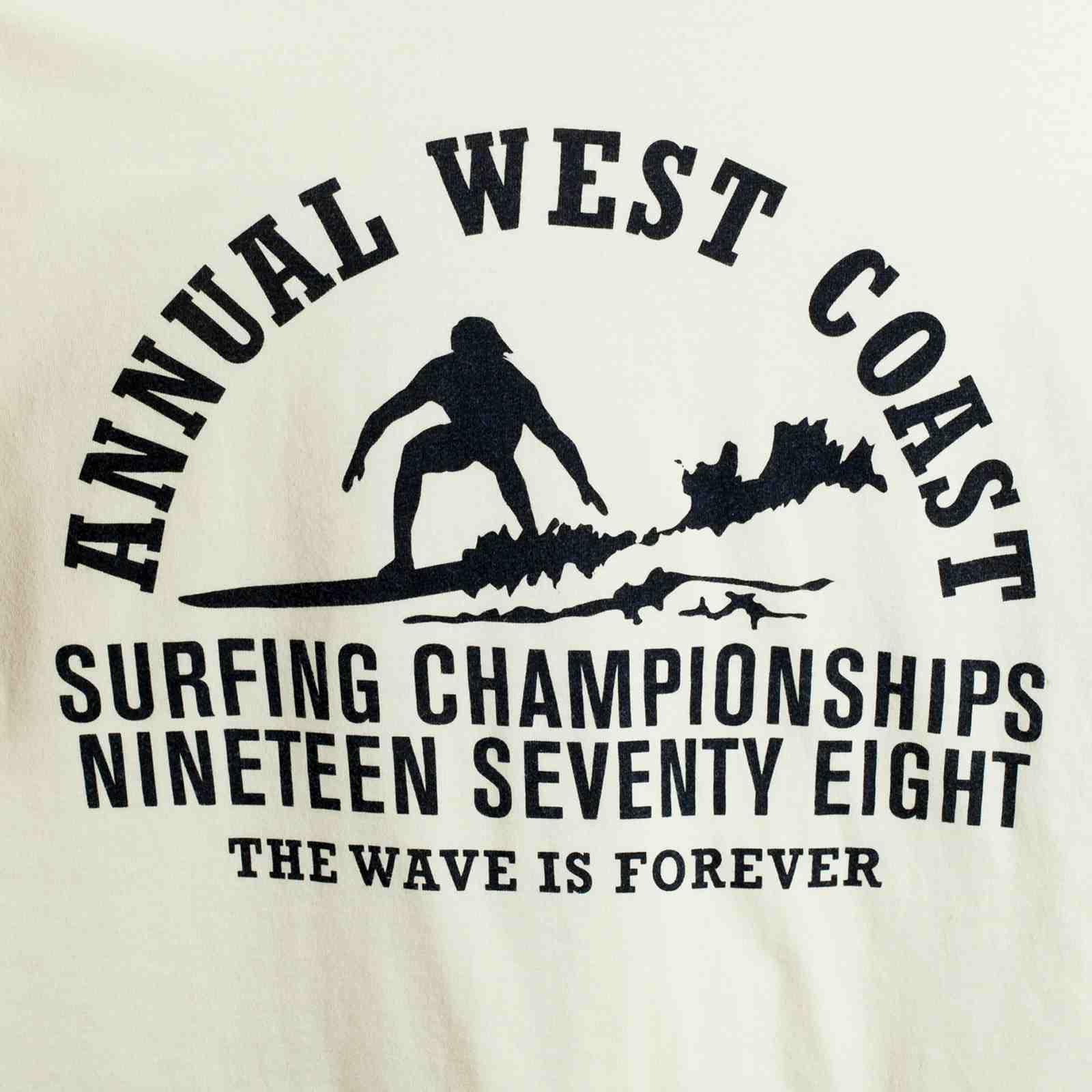 Футболка для сёрферов с принтом The Wave is forever-принт