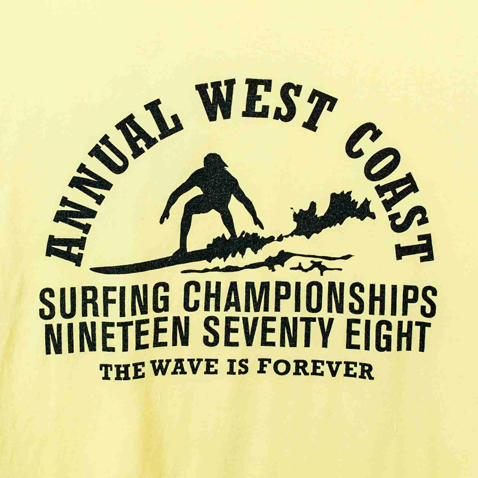 Футболка для сёрферов The wave is forever с памятным принтом-принт