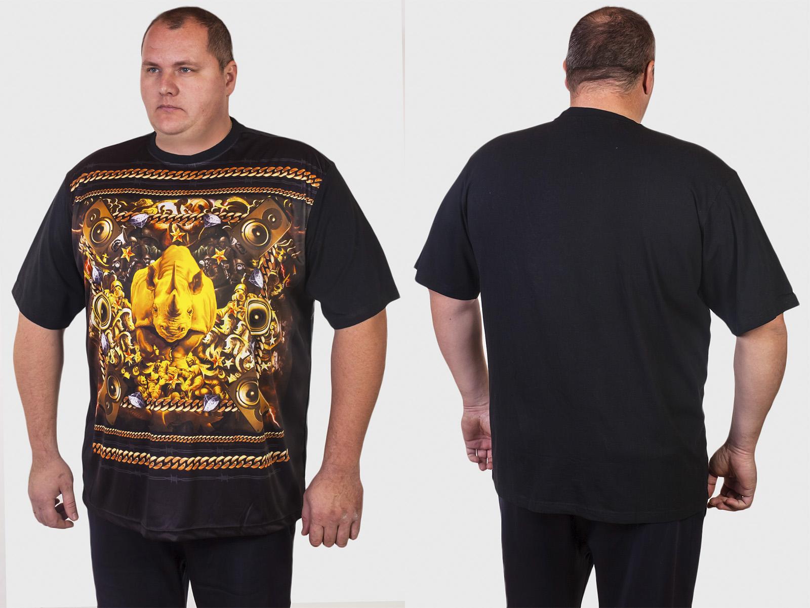 Мужские футболки батальных размеров