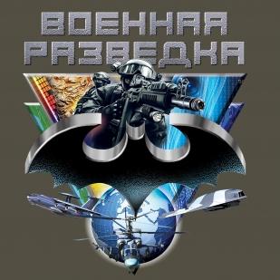 """Футболка """"Эмблема Военной разведки"""" - принт авторский"""