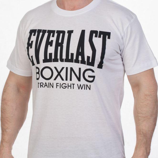 Футболка «Everlast Boxing» белая со скидкой