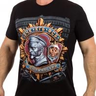 Дизайнерская мужская футболка ВЧК*КГБ*ФСБ с профилем Дзержинского