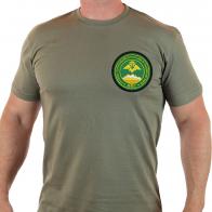 Милитари футболка с вышивкой Группы погранвойск России в Таджикистане.