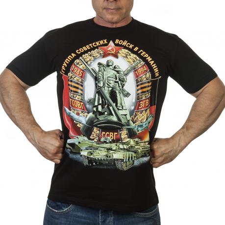 Мужская футболка с военно-патриотическим принтом ГСВГ