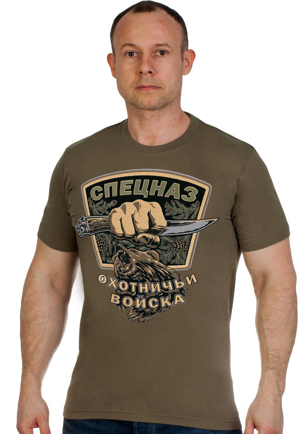 Подарочная футболка «Спецназ – охотничьи войска»