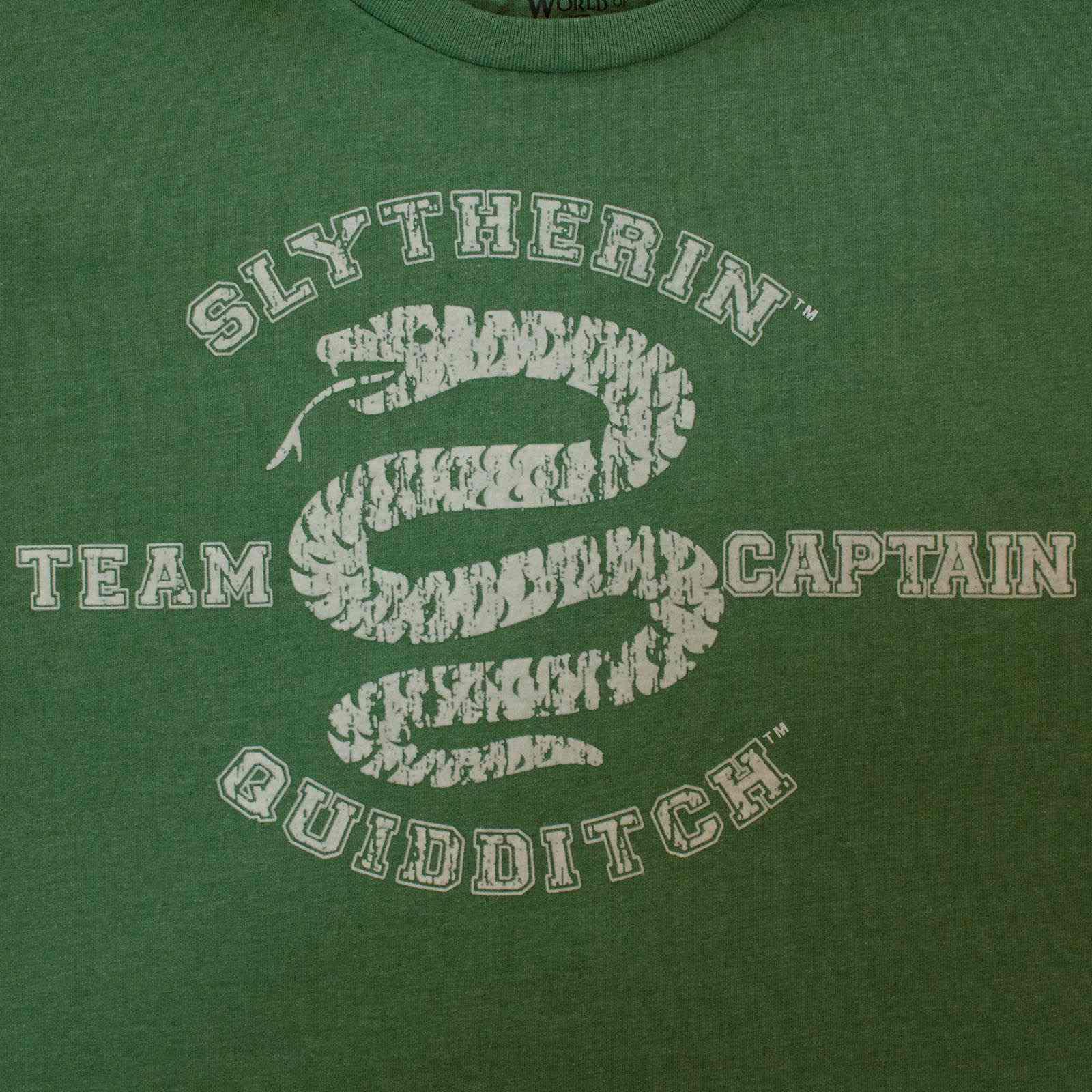 Футболка Harry Potter капитана Слизерина по квиддичу-увеличенное