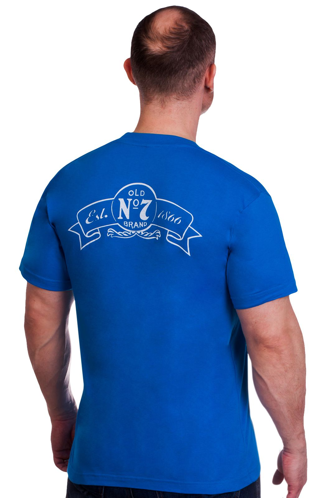 Купить футболку «Jack Daniels» синяя