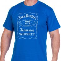 Футболка «Jack Daniels» синяя