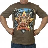 Мужская футболка хаки олива «Пограничные войска России».