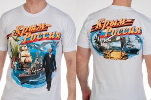 """Заказать футболки """"Крым это Россия"""""""