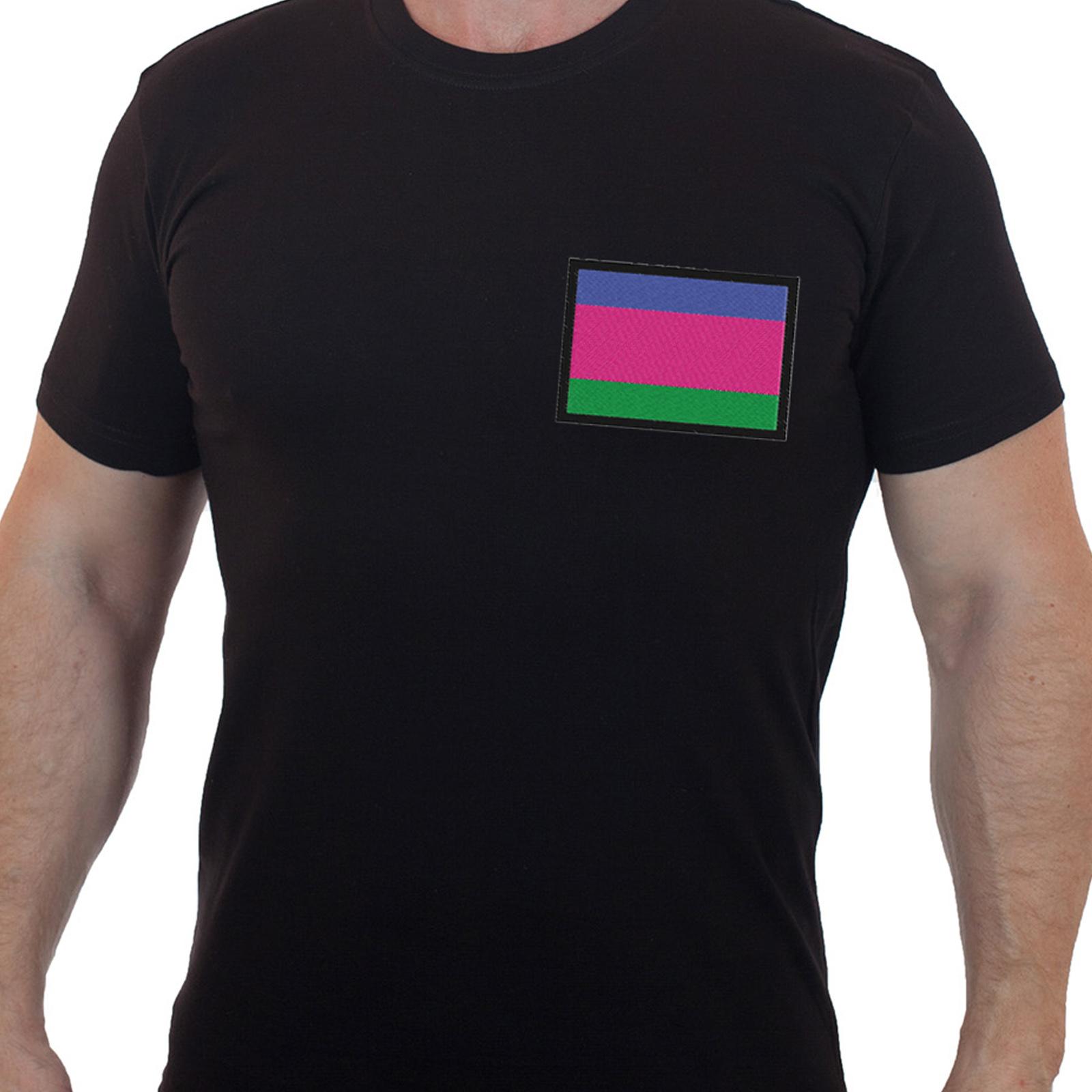 Эффектная мужская футболка с флагом Кубанских казаков
