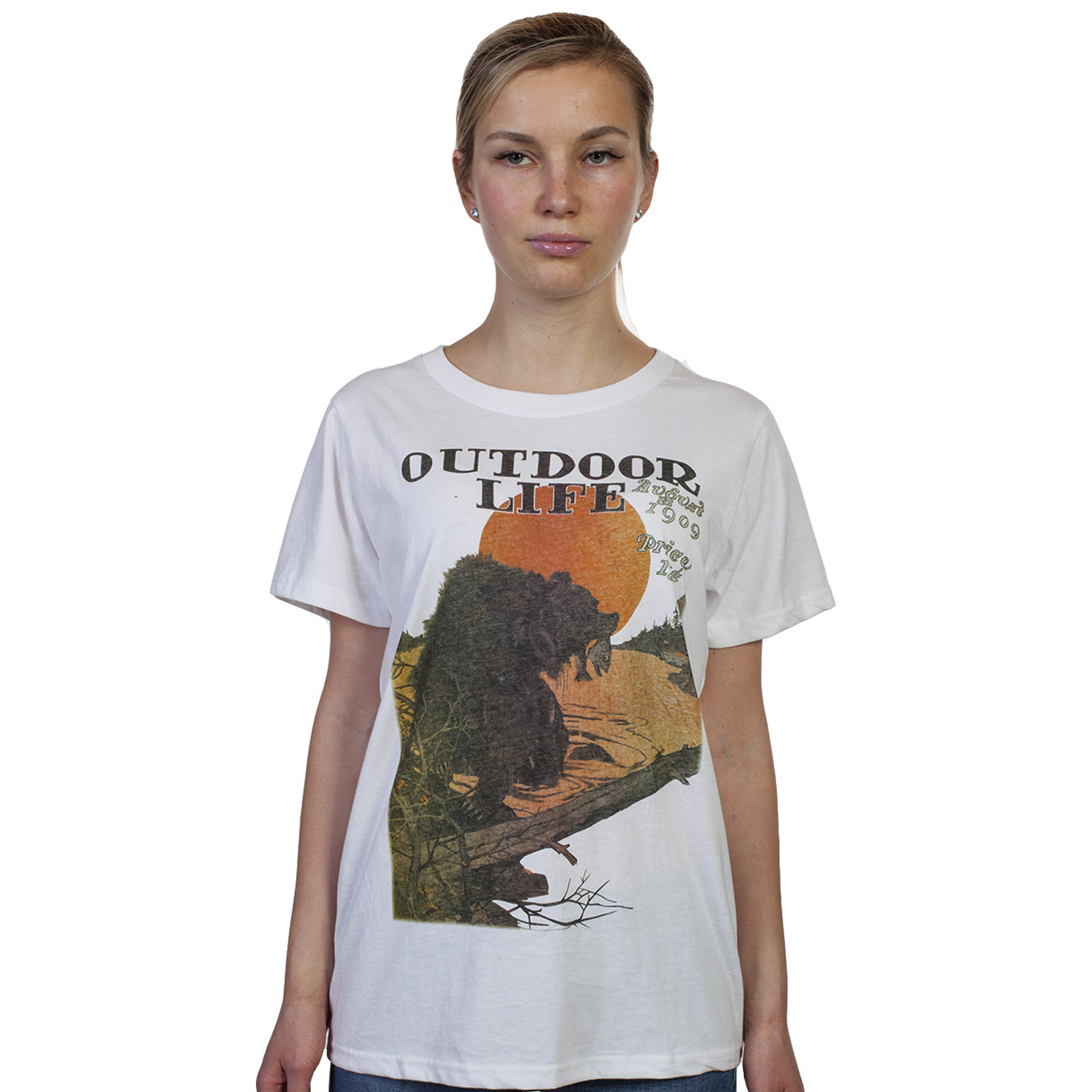Белая женская футболка с принтом – недорого и стильно