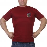 Краповая футболка с логотипом 75 лет Победы