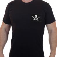 Футболка мужская с вышитым флагом пиратов