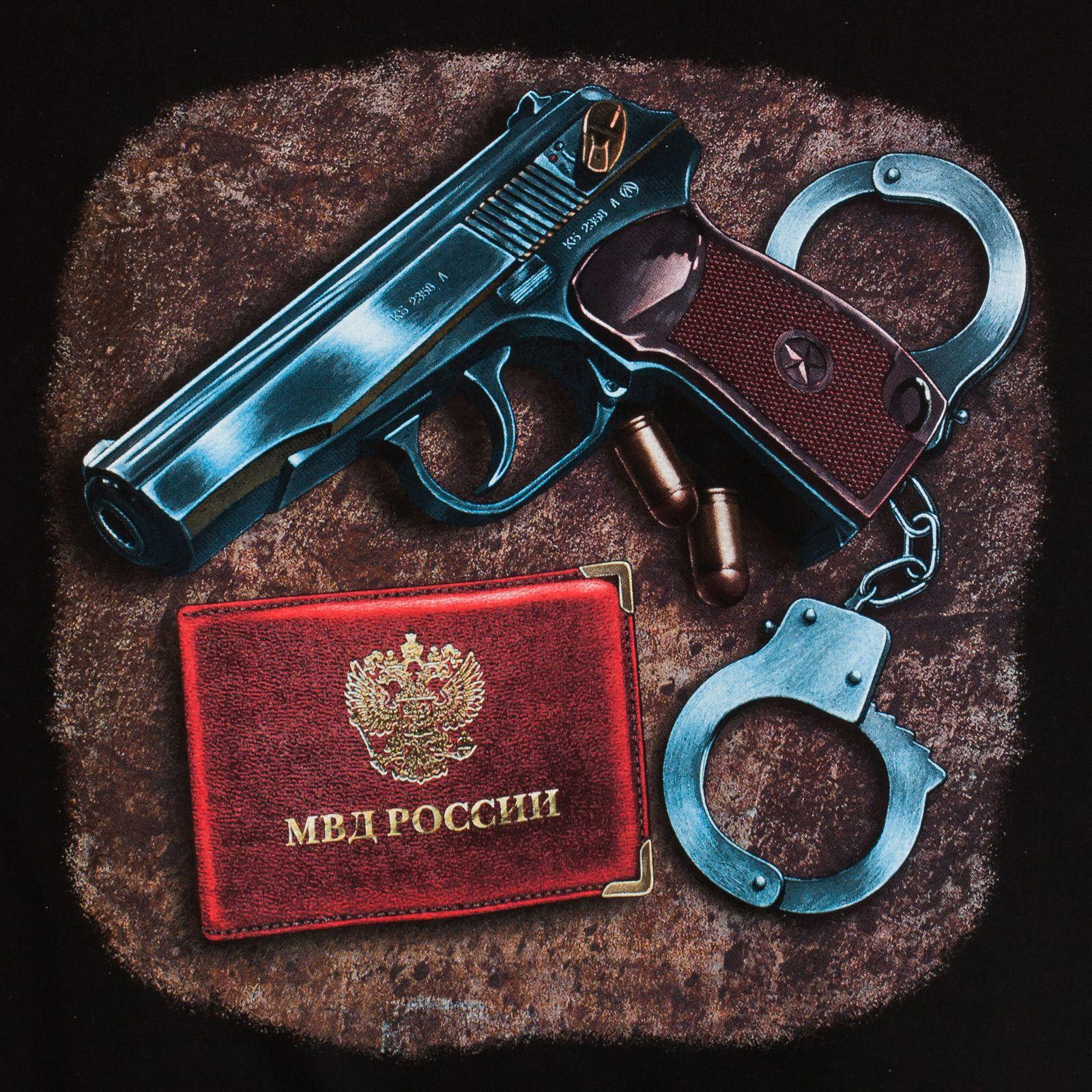 Футболка «МВД России» - оригинальный принт