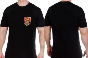 Футболка надежная черная с эмблемой ГСВГ - купить с доставкой