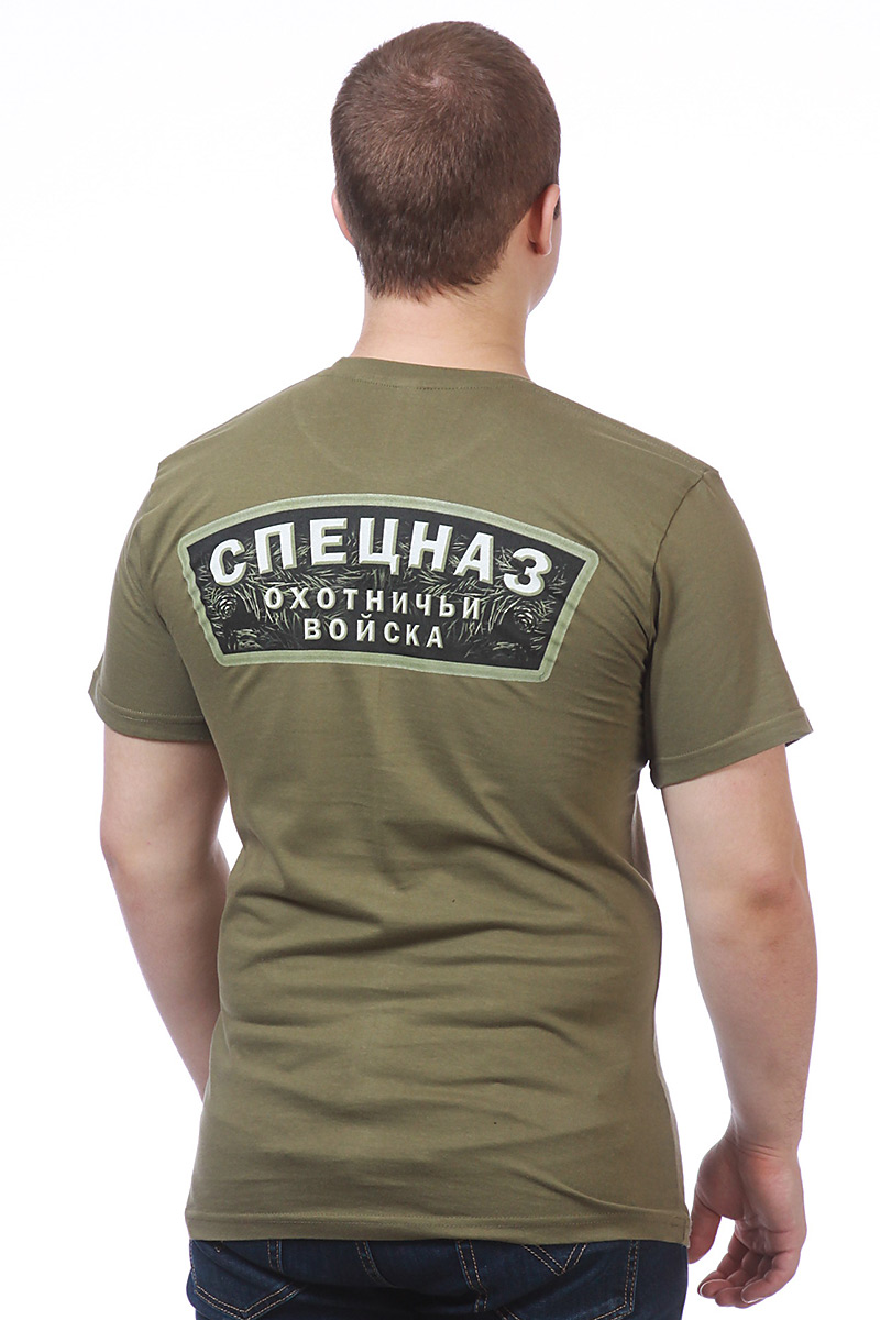 Мужская футболка с медведем  - вид сзади