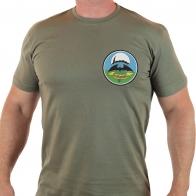 Мужская футболка олива с символикой воинского формирования 10 ОБрСпН