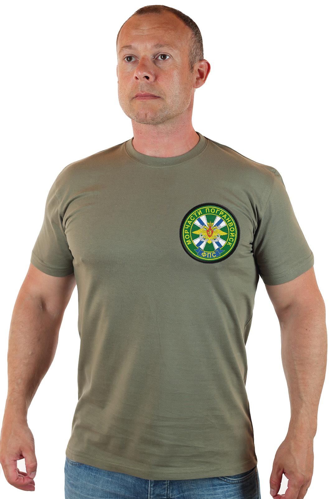Мужская оливковая футболка Морчасти Погранвойск ФПС