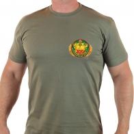Статусная мужская футболка олива Погранвойска.