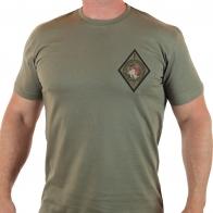 Оливковая футболка с шевроном ОПЛОТА «Нет уз святее товарищества»