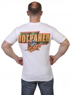 Белая футболка Погранец по лучшей цене