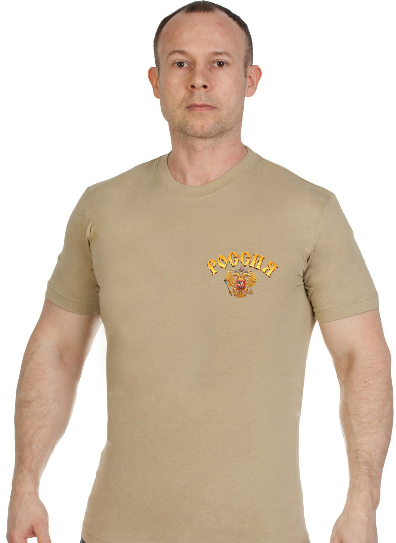 Купить футболку песочную мужскую РВСН в подарок любимому