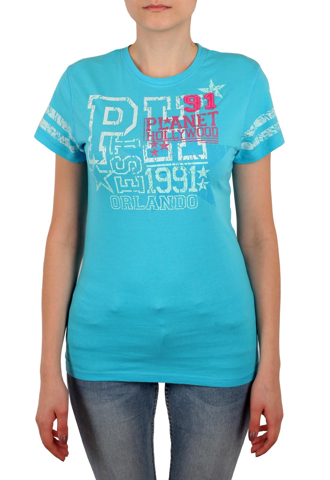 Женская бирюзовая футболка Planet Hollywood