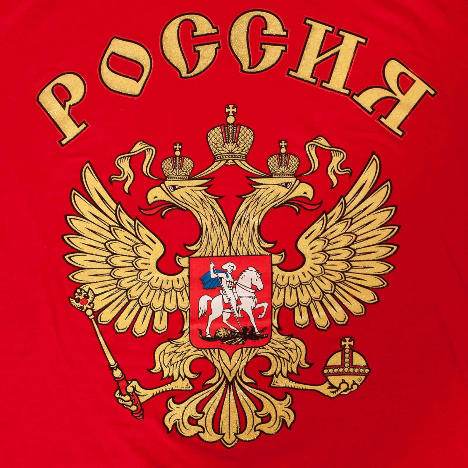 Красная футболка «Россия». - принт