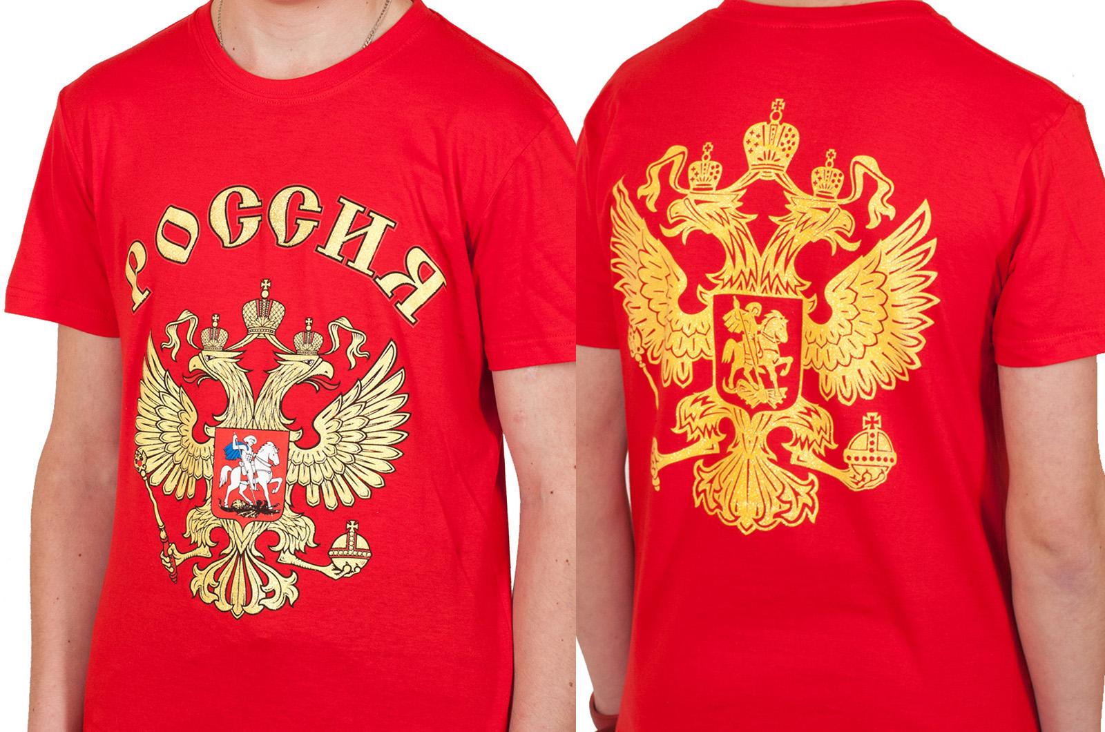 """Заказать футболку подростковая """"Россия"""""""