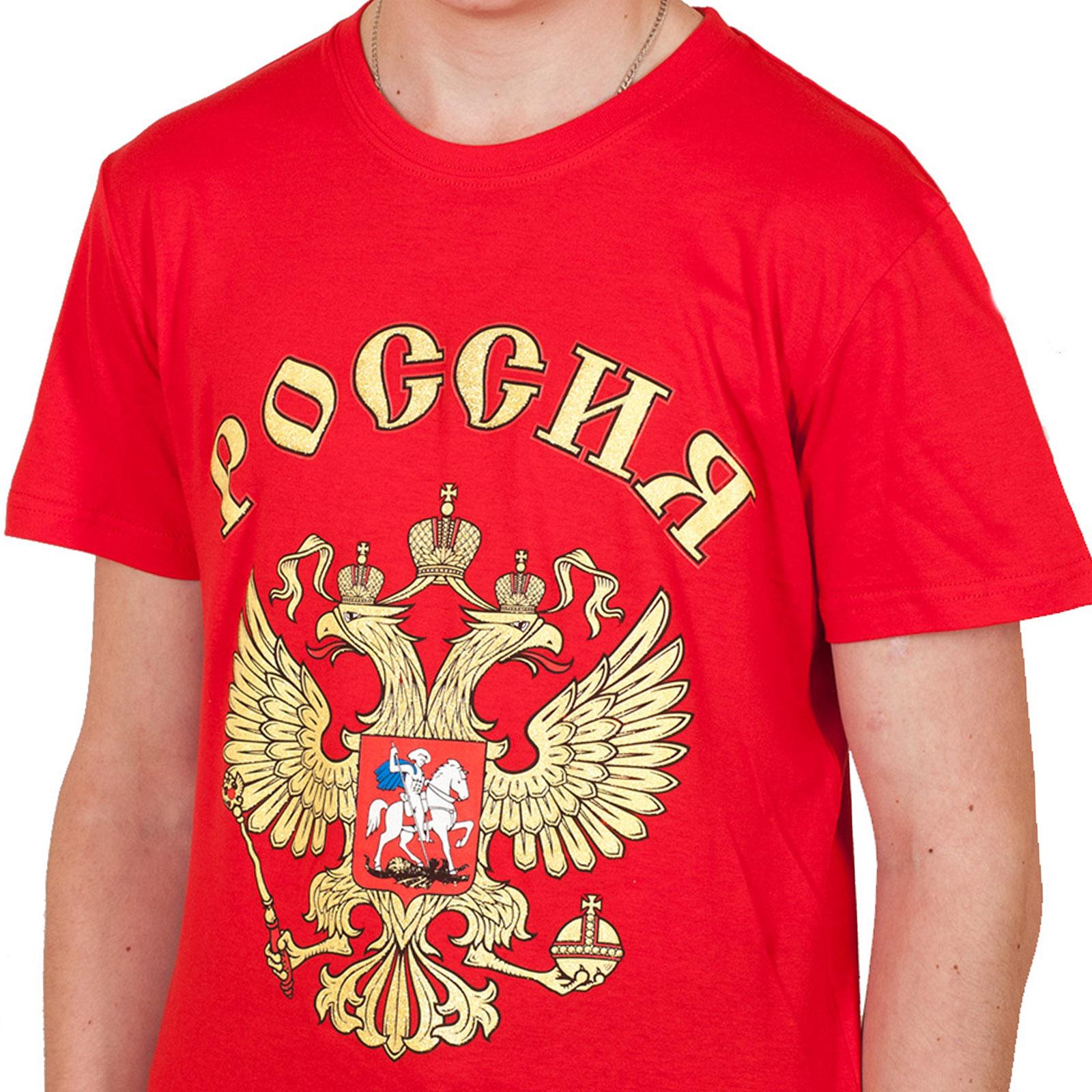 Красная футболка «Россия».
