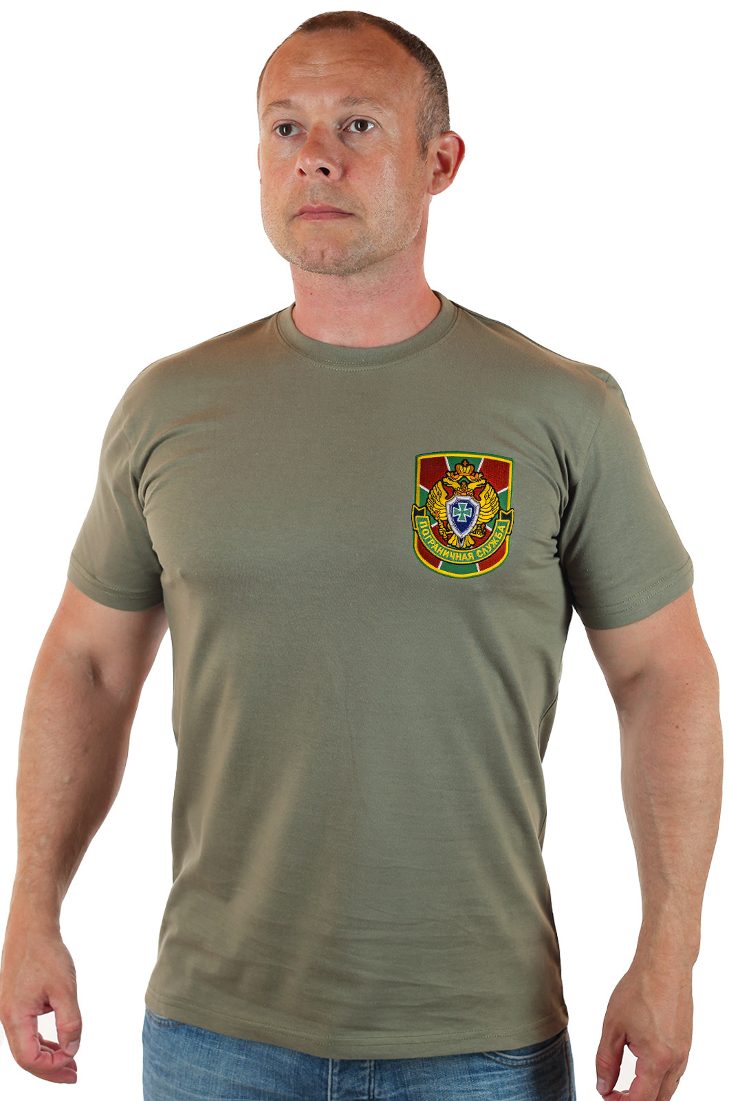 Купить в Москве футболку с эмблемой ПОГРАНИЧНАЯ СЛУЖБА