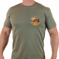 Оливковая мужская футболка Пограничные Войска.