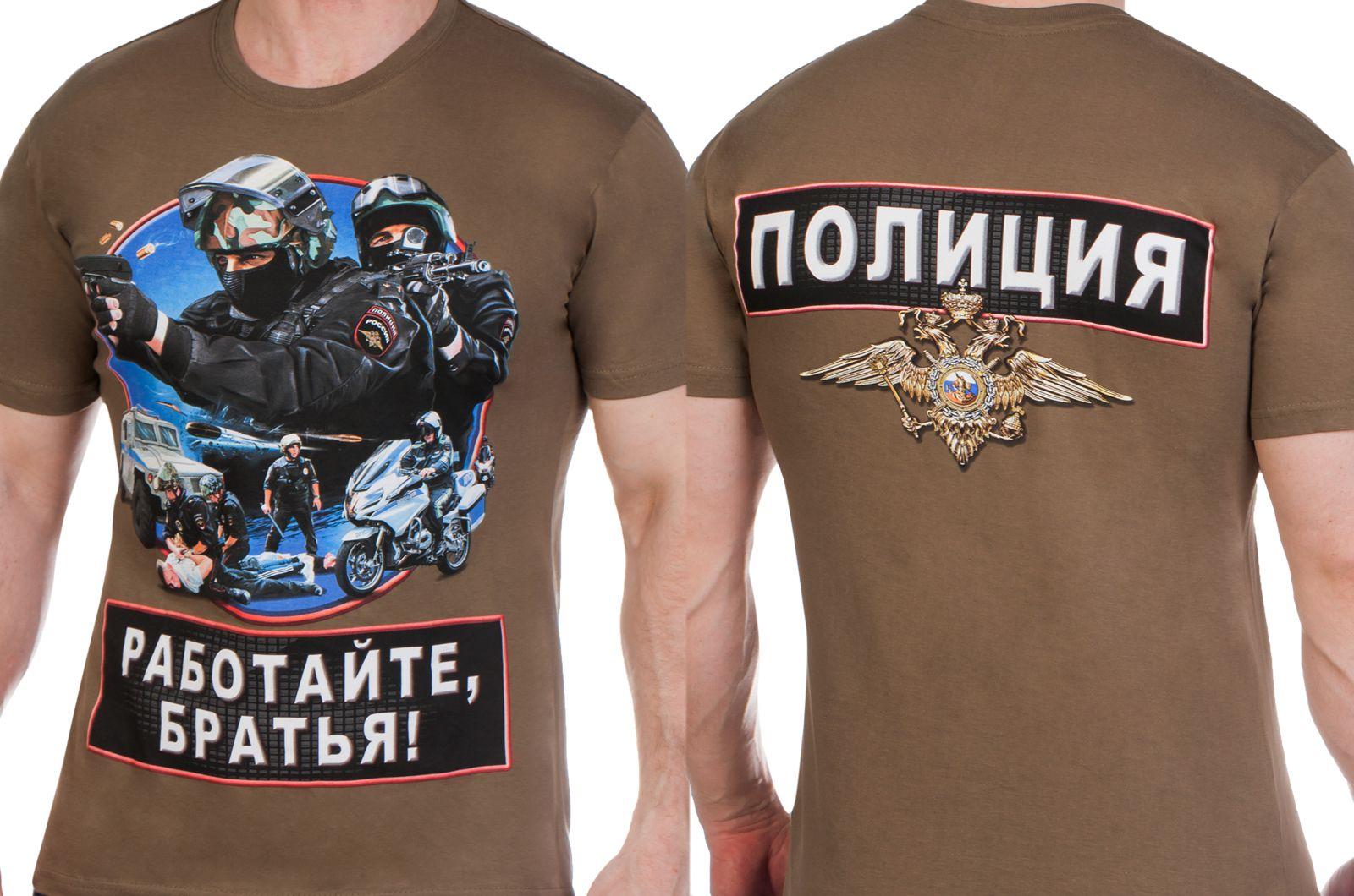 Заказать футболку полицейскому