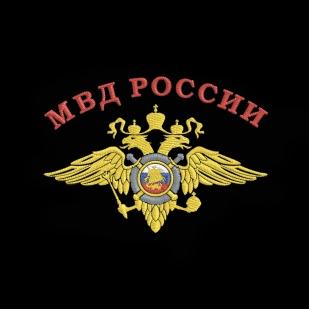 Футболка Полиции с вышитым гербом МВД России от Военпро