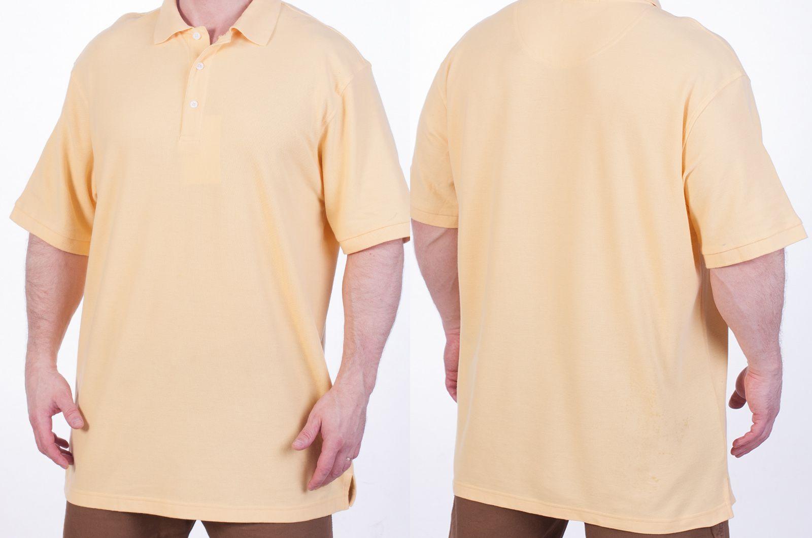 Футболка Поло желтая - высокого качества