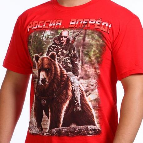 Футболка «Путин на медведе»