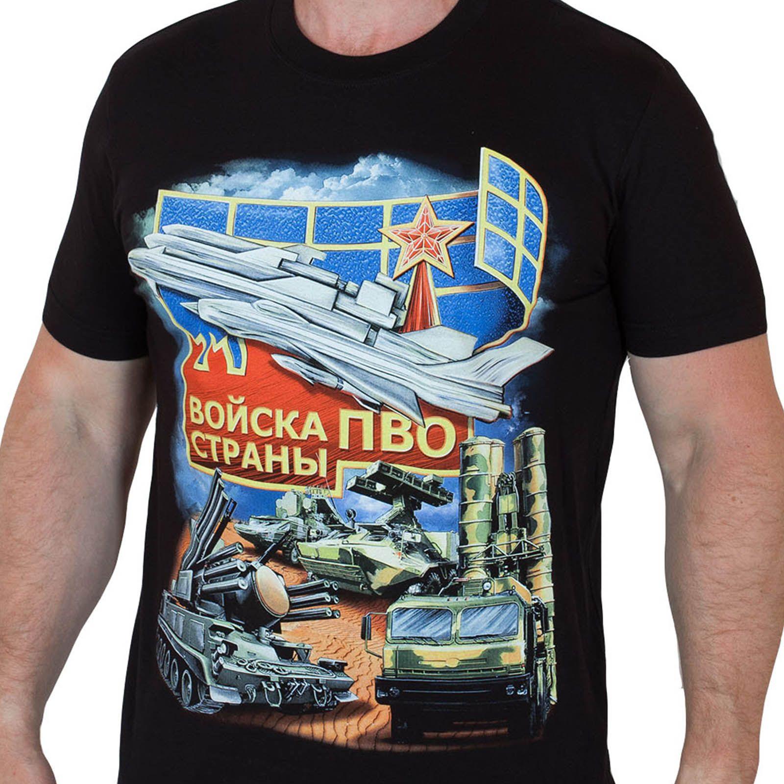 Футболки ПВО в Военпро - все размеры и типы дизайна