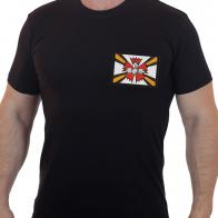 Мужская футболка с флагом Разведывательных соединений и воинских частей