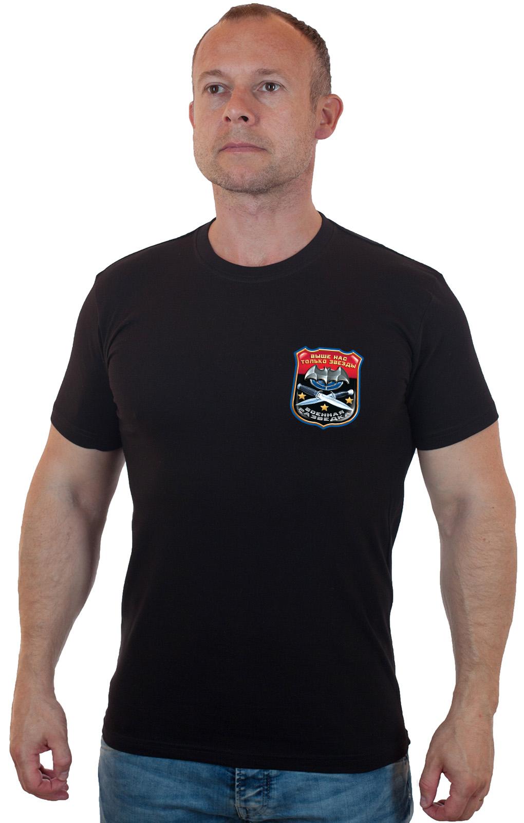 Купить футболку разведчика черную выгодно