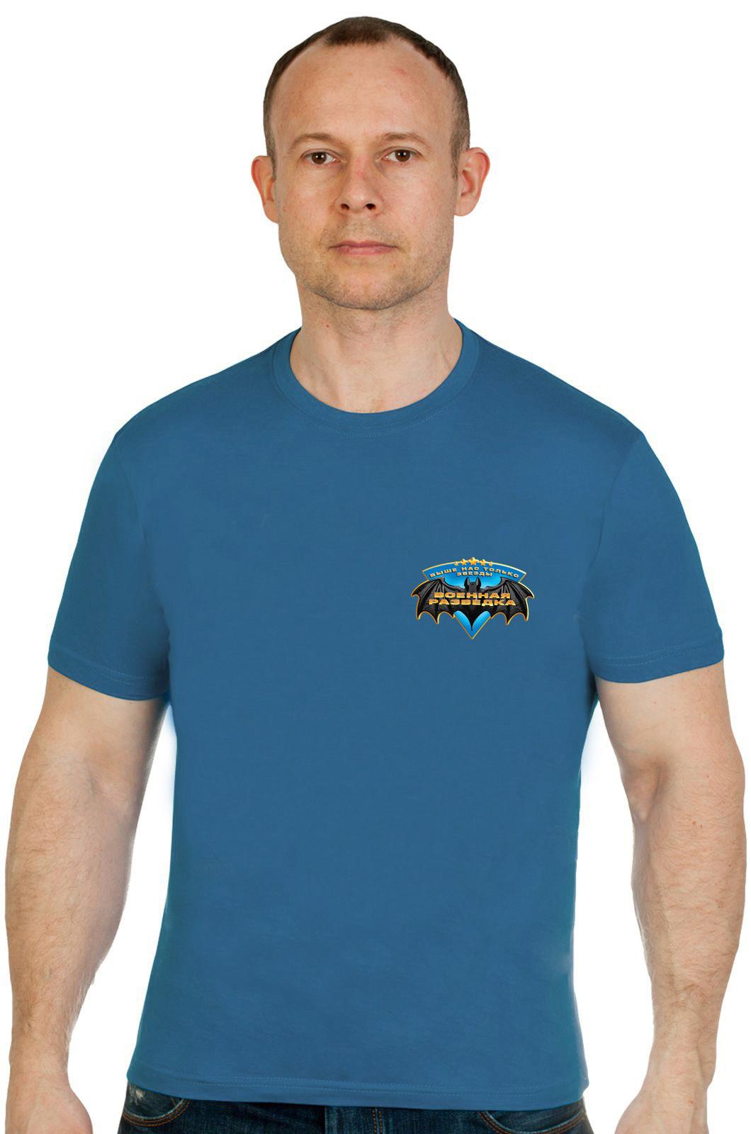 Купить футболку разведчика с черной эмблемой по оптимальной цене
