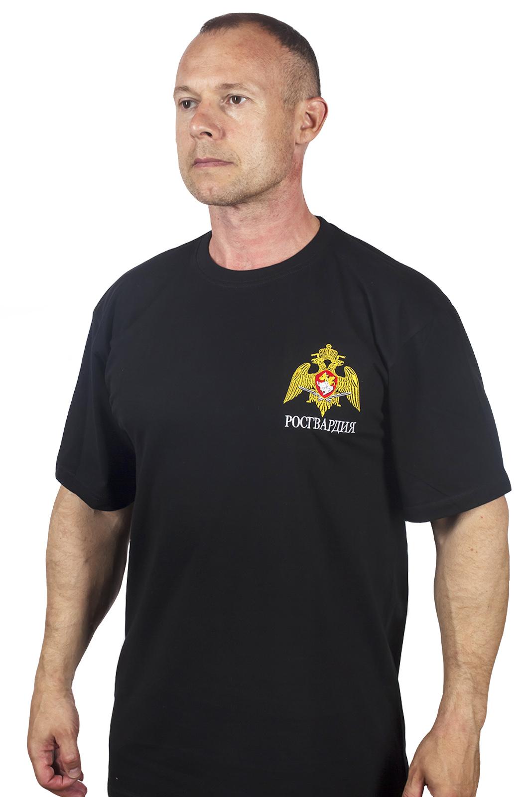 Заказать в Москве мужскую футболку с вышивкой «Росгвардия»