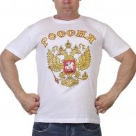 Белая футболка Россия