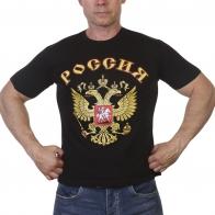 Черная футболка Россия