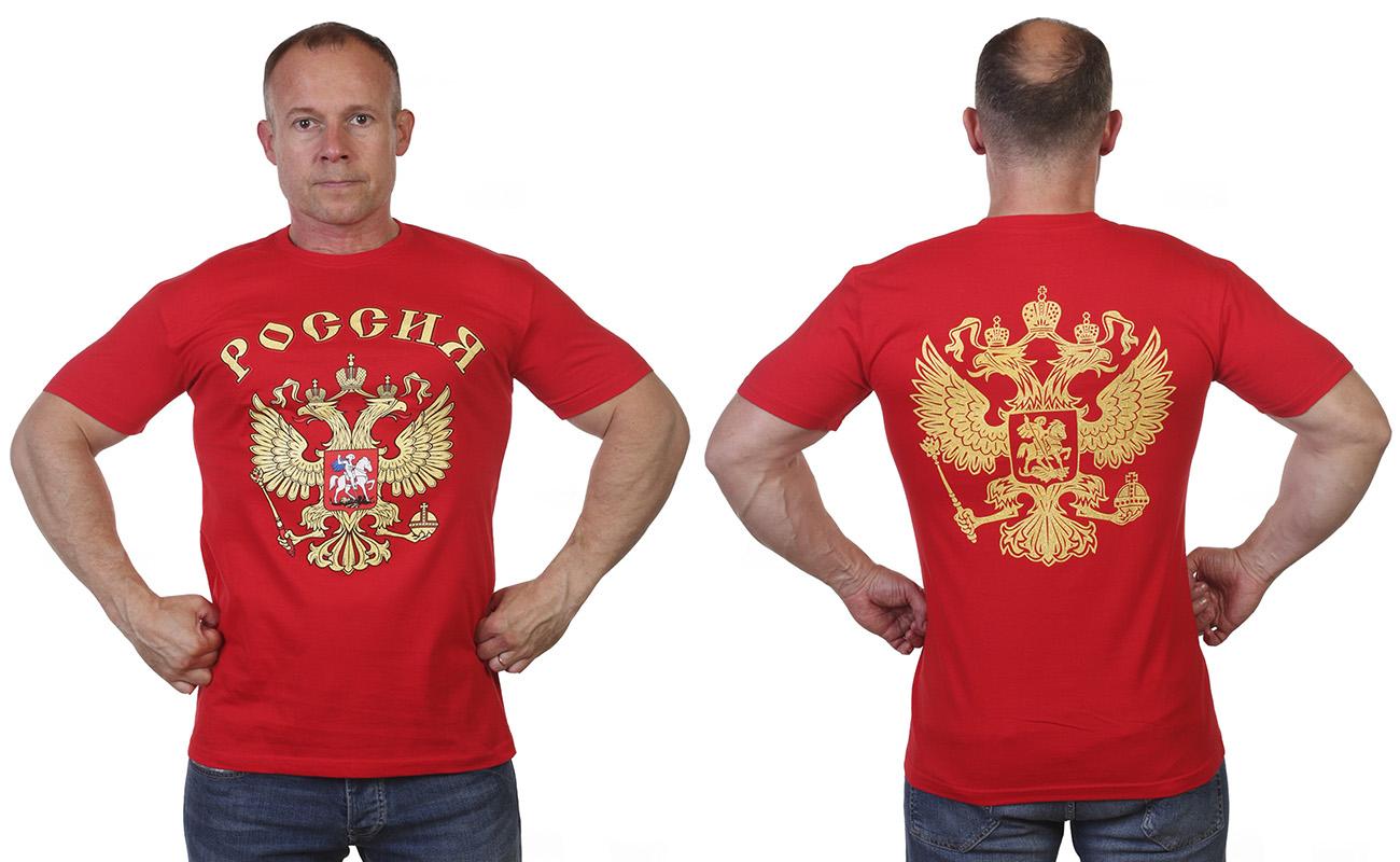 Заказать футболки с гербом России.