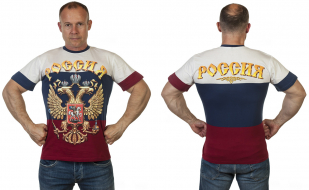 Мужская футболка Россия с доставкой