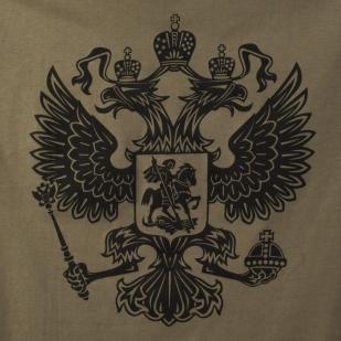 Футболка «RUSSIA» хаки
