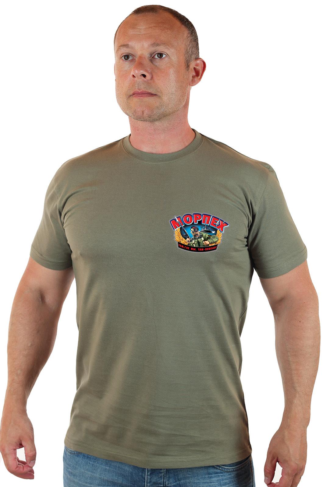 Купить в интернете с доставкой мужскую футболку морпеха