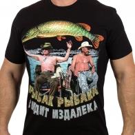 Мужская футболка «Путин и Шойгу на рыбалке».