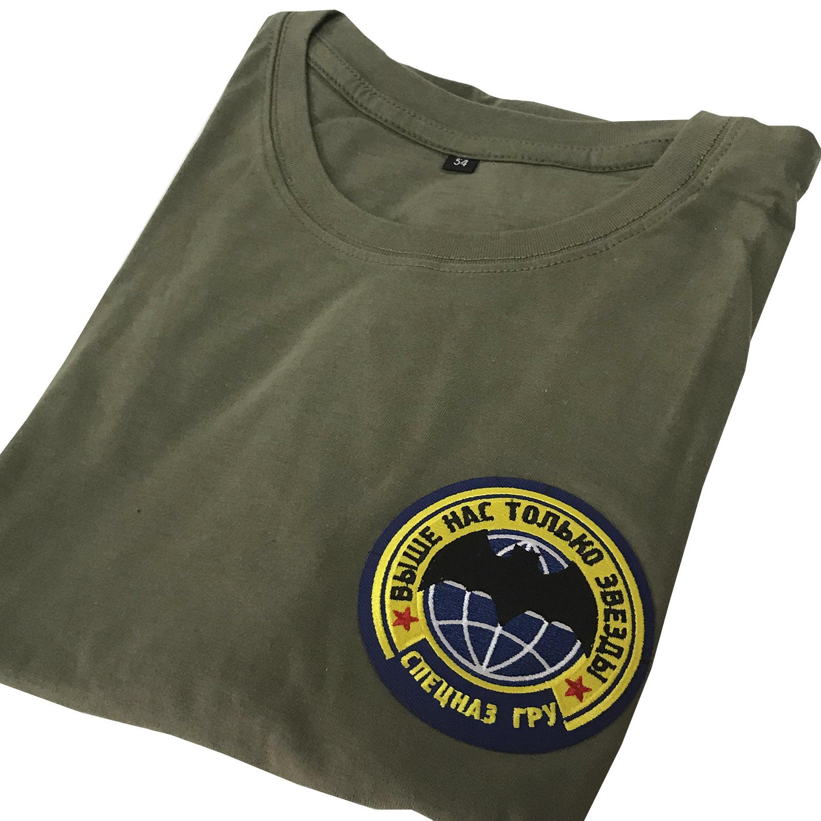 Стильная милитари футболка с девизом Спецназа ГРУ